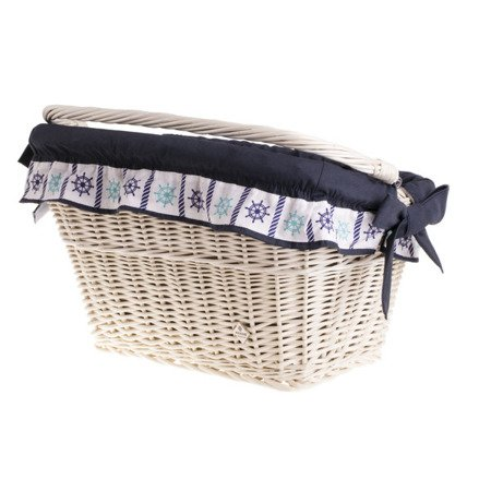 Wicker bike basket