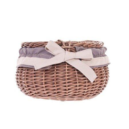 Wicker storage basket with lid