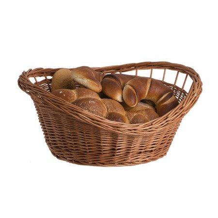Ovale naturfarbige Weidenschüssel für Obst, Gemüse und Süßigkeiten