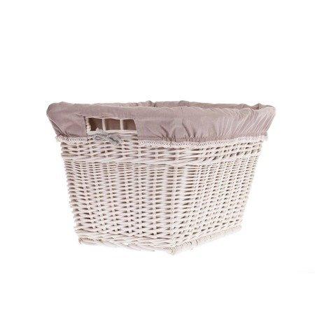 Rechteckiger Wäschekorb aus Weide mit dem Besatz