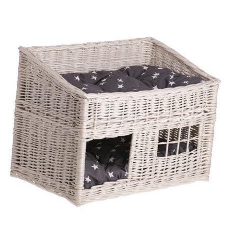 Domek wiklinowy dla kota / legowisko dla zwierząt