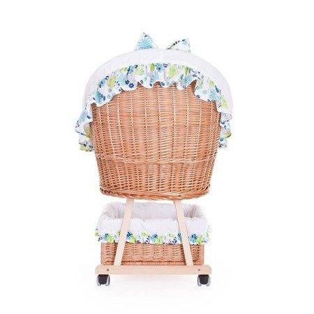Łóżeczko wiklinowe dla niemowląt