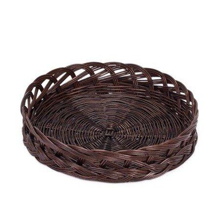 Okrągła taca wiklinowa na chleb