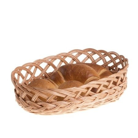 Owalna taca wiklinowa na chleb